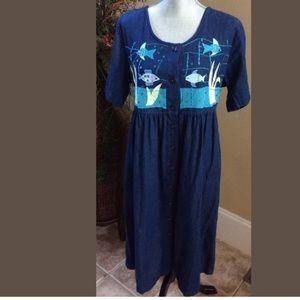 9339fdab96 COMFY LOUNGE BLUE DENIM DRESS BY GO SOFTLY
